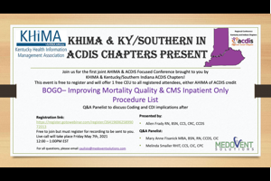 KHIMA/KY ACDIS Joint Event